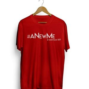 """Tops - Plus sized """"A New Me"""" t-shirts."""